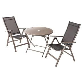 アーバンガーデン テーブル&チェア ラウンド 大 3点セット 写真