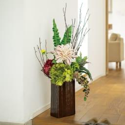 フラワーアレンジメント モダン まるで生花のような華やかさ!オーダーメイドのクオリティをお手頃プライスでお楽しみください。