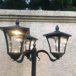 プランター付きソーラーライト 1灯 ※画像は3灯タイプ。お届けは1灯タイプです。