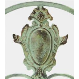 アンティーク調グリーンフェンス ロー 2枚組 精緻な細工が重厚感を際立たせます。
