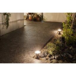 工具不要 簡単に本格ライトアップ!ひかりノベーション基本セット2個組 (ウ)地の光点灯時