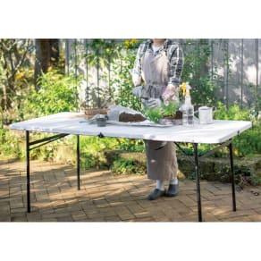 折りたたみ作業台シリーズ テーブル ホワイト 写真