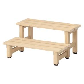木目調アルミデッキ縁台用ステップ 単品 ステップ 写真