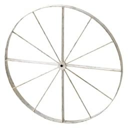 花だん用アイアンシリーズ アイアン車輪 小 (ア)アンティーク調ホワイト