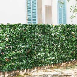 フェンス用目隠しフェイクグリーン (イ)レッドロビン風 本物の生け垣と見ちがうほどのリアルさ。一年中緑を保ち、虫の心配がありません。