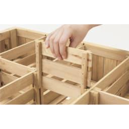 ハーブ用菜園プランター ベジトラグ 大型(8コマ) 仕切り板はすべて取り外せるので、スペースが自由に使えます。