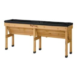 菜園プランター ベジトラグ 省スペースサイズL (ア)ナチュラル 専用ライナー付き。 ※写真はLサイズです。