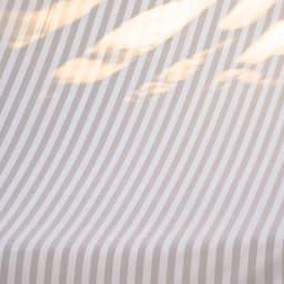 国産 ストライプサンシェード ビーズ付き100×200 (イ)グレー 生地は透けない厚みです。