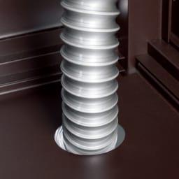 作業台&収納庫付きモダンシンク 排水は内部のホースを通して外に流せます。