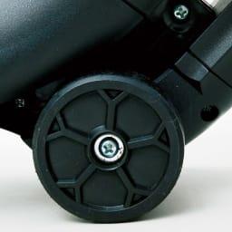 ブロワーバキューム 先端にタイヤ付きで、スムーズに移動できます。