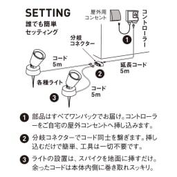 工具不要 簡単に本格ライトアップ!ひかりノベーション基本セット2個組