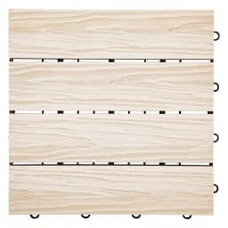 人工木タイルマット9枚セット (ア)ホワイト