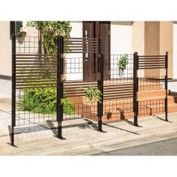 目隠しガーデニングフェンス高さ150cm 1枚 フェンス同士の間隔や30×90cmのパネルの組み合わせをお客様自身で簡単に調節可能。*別売りコンクリート設置パーツ使用時