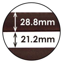 目隠しガーデニングフェンス 高さ150cm お得な2枚組 ボーダーパネル詳細サイズ