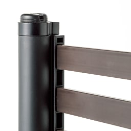 ハンギングできる目隠しフェンス 高さ120 2枚 太い丸パイプと面で支える角パイプの組み合わせでしっかりとした強度に。