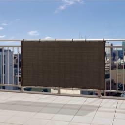サマーオーニングバルコニータープ 100×360cm (イ)チャコールグレー UVカット率…約91%