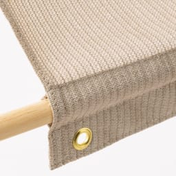 サマーオーニング タープ 約200×300cm 支柱や木棒を通して姿良くピンと張れます。