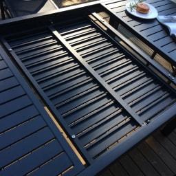 伸長式アルミテーブル&チェア 5点セット