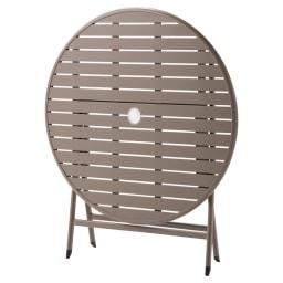 アーバンガーデン テーブル&チェア ラウンド 大 3点セット テーブルは折りたたみ時に自立。