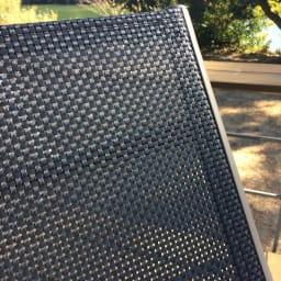 アーバンガーデン ラウンジベッド メッシュで通気性のよい背もたれと座部。