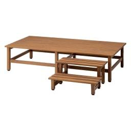 木目調アルミデッキ縁台&ステップ お得なセット 0.5坪セット (イ)ブラウン 0.5坪セット(デッキ180×90cm+踏み台ステップ) お届けの商品です。