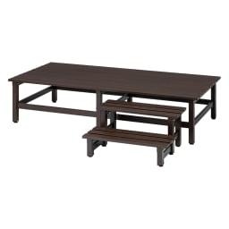 木目調アルミデッキ縁台&ステップ お得なセット 0.5坪セット (ウ)ダークブラウン 0.5坪セット(デッキ180×90cm+踏み台ステップ) お届けの商品です。