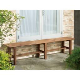 木目調アルミデッキ縁台&ステップ 単品 デッキ縁台150×36cm (イ)ブラウン ベーシックなナチュラルガーデンに合うブラウン。※画像はサイズが異なります。