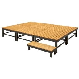 天然木アルミフレームデッキ 1.5坪セット 幅90奥行90デッキ6点+踏み台1点のお得な7点セットです。