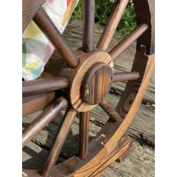 車輪デザインベンチ 幅65cm