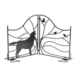 ドッグシルエットフェンスゲート ゲート