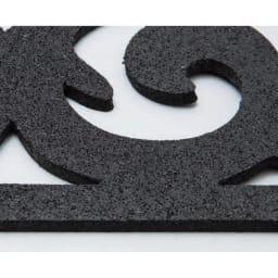 階段マット 3枚組 滑りにくいオールラバー素材を使用。