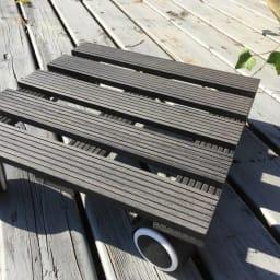人工木キャスター付き鉢台 同色2個組