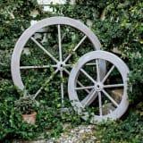 シャビーシック風木製車輪 中 写真