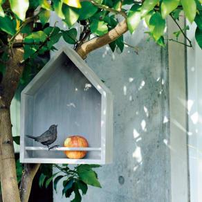 北欧風ガーデンシリーズ バードハウス型シェルフ 写真