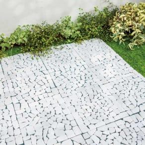 雑草が生えない天然石マットホワイト 48枚 写真