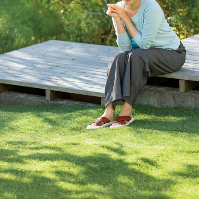 防草シート付きロール芝 使用例