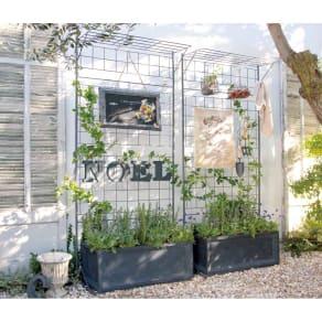 プランター台付きワイドトレリス 幅89cm パーゴラ付き 写真