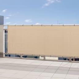 サマーオーニングバルコニータープ 100×270cm (ウ)アーバングレー  UVカット率…約89% 視線が気になる窓辺やバルコニーに。おしゃれにプライバシー対策ができます。付属のバンドで取り付けるだけと手軽さも魅力です。