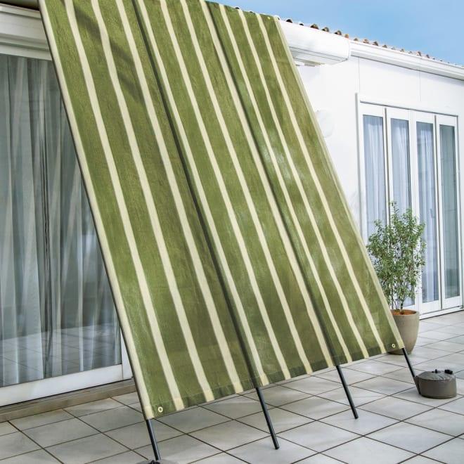 サマーオーニング洋風たてす たてす高さ300 (イ)グリーンベージュ UVカット率…約85%