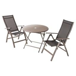 アーバンガーデン テーブル&チェア ラウンド 大 3点セット お届けは、ラウンドテーブル+チェア2脚組の3点セットです。