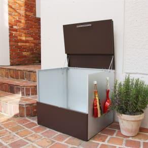 ガルバ製ゴミ保管庫 レギュラータイプ 幅69奥行55cm 写真