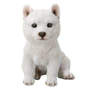 黒柴&白柴犬のオーナメント 白柴 子 写真