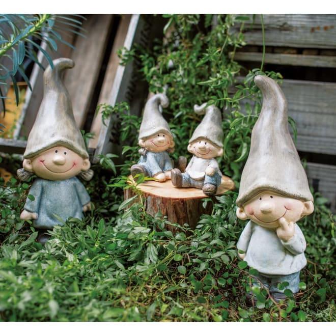 森の男の子女の子4人セット 4人セット