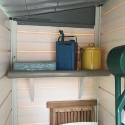 イタリア製物置 片屋根 充電式電動ドライバー付き