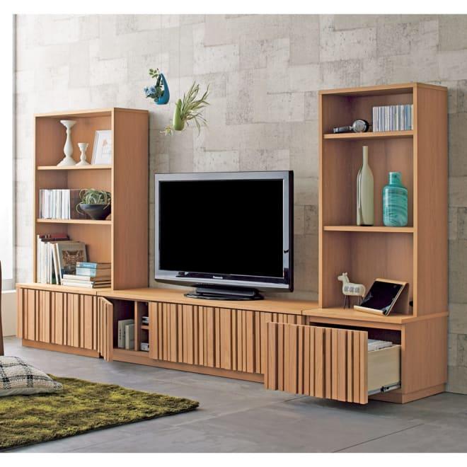 Romane/ロマーヌ 縦格子テレビ台 テレビ台 幅151cm お届けする商品はテレビ台です