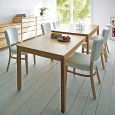 NobuII 伸長式スライディングテーブル オーク材ダイニングテーブル 長方形幅140~249.5cm
