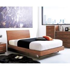 Arge(アルジェ) クールモダンすのこベッド(高密度ポケットコイルマットレス付き)