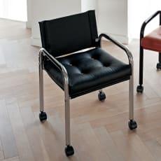 innovator/イノベーター 103チェア 人工皮革 メッキフレーム