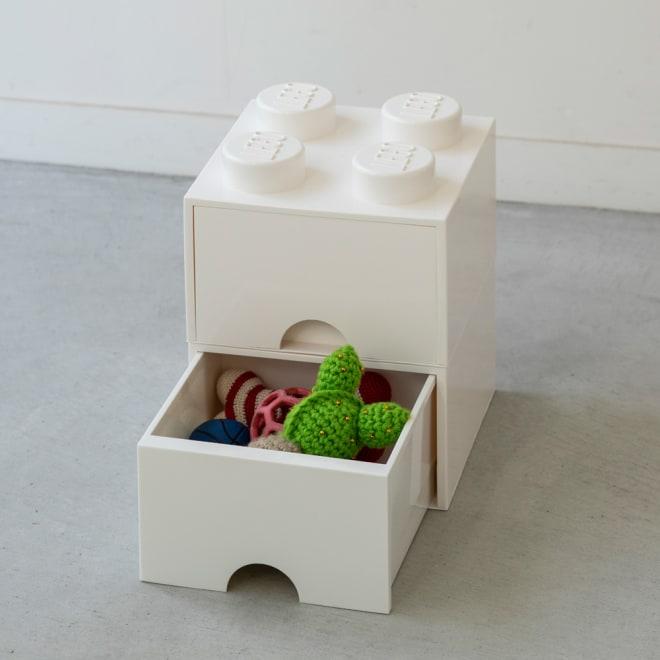 LEGO(R) BRICK DRAWER/レゴ ブリック ドロワー スリム2個 同色セット (ア)ホワイト