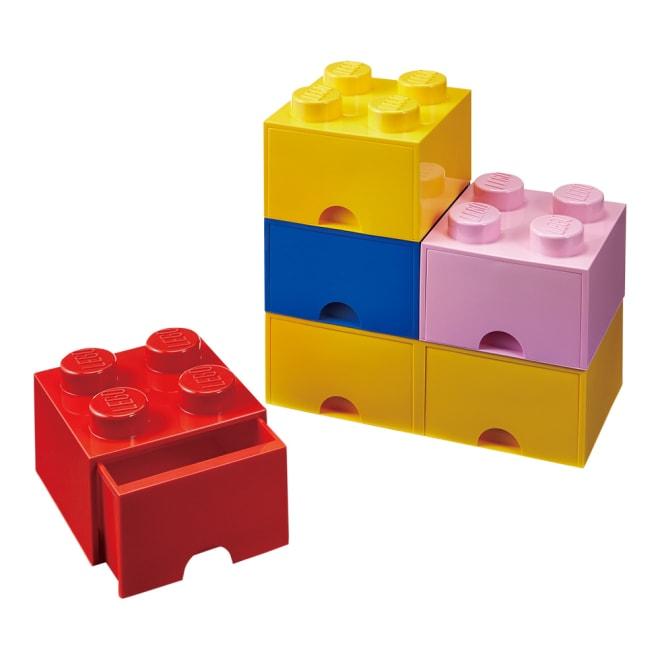 LEGO BRICK スリム1段 スリムタイプ 最下段イエローは幅広タイプです。